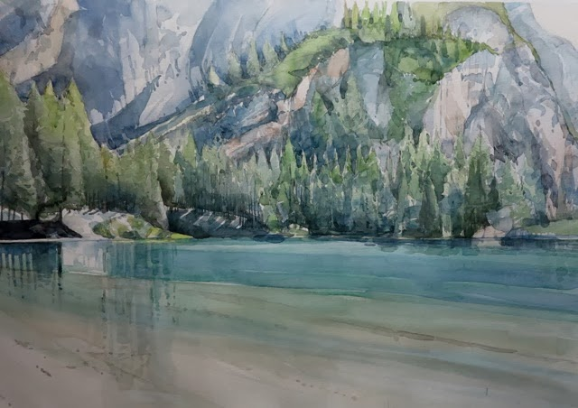 Watercolor ma non solo lago di braies for Lago disegno