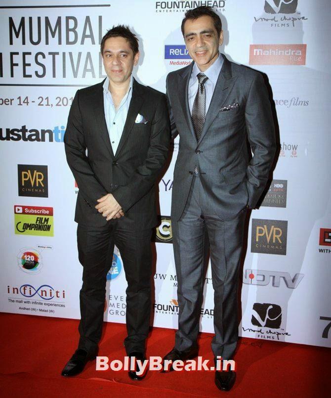 Ajay, Sanjeev Bijli, Mumbai Film Festival 2014 Photos
