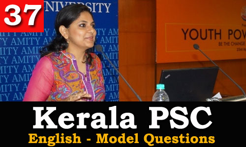 Kerala PSC - Model Questions English - 37