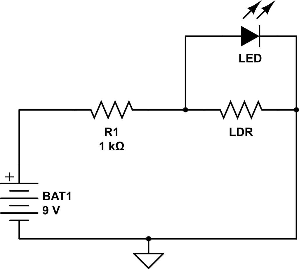 Darkness Detector Circuit Electronics Projects