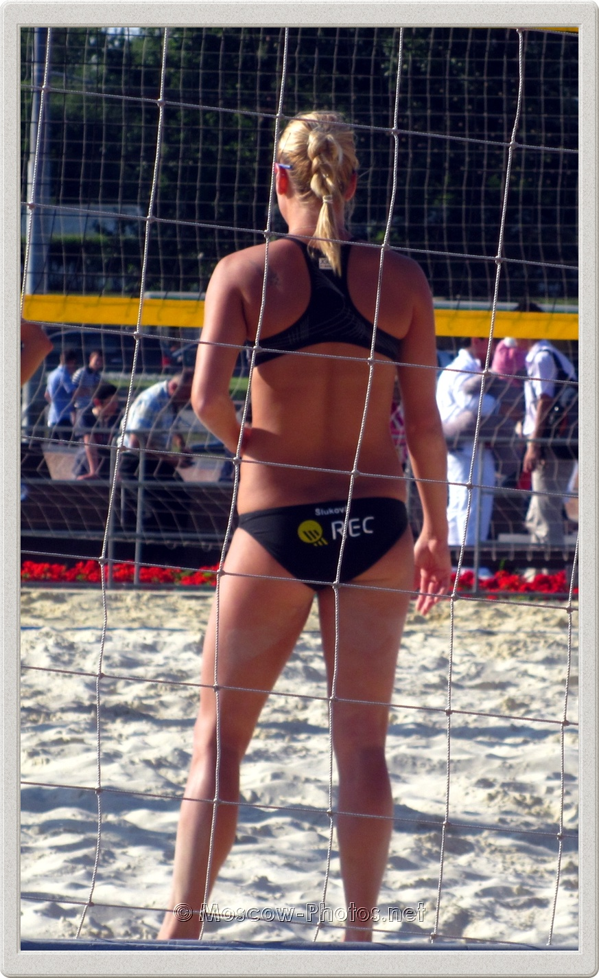 Beach Volley Player Marketa Slukova on Practice Court