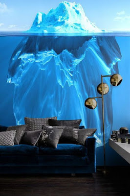 Glowing 3D wallpaper or living room walls