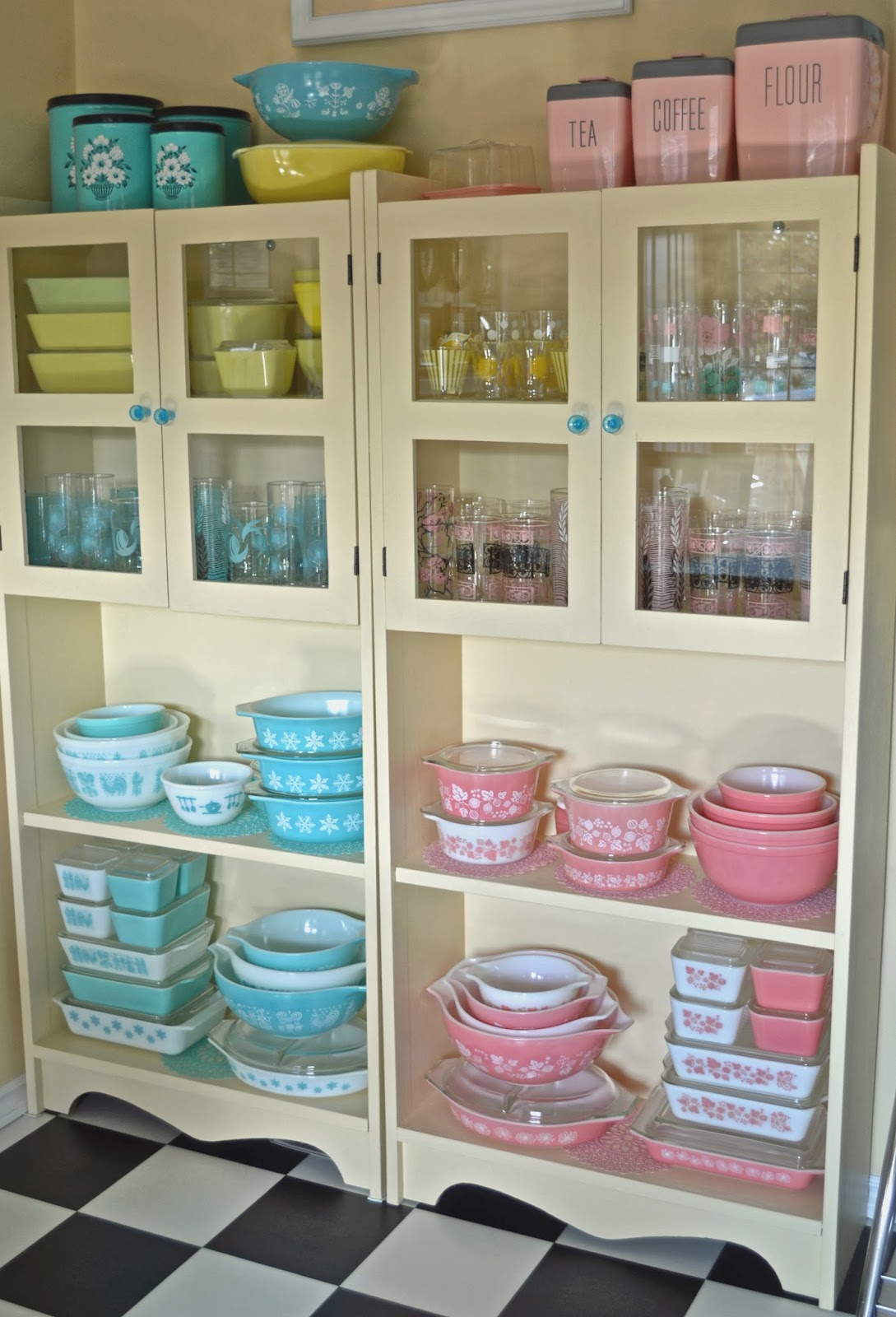 Kitchen Cupboard Organization Glasses