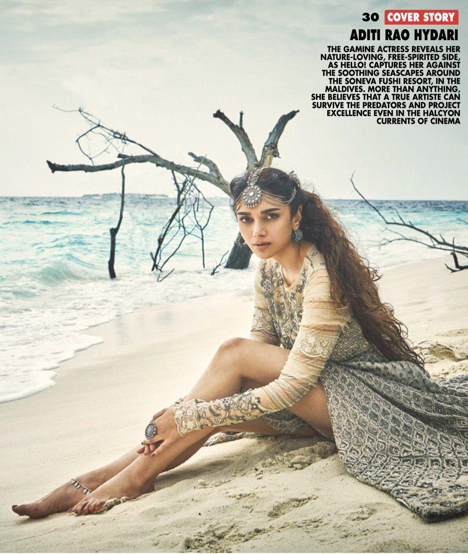 Aditi Rao Hydari on the cover of Hello! India   Indian Girls Villa - Celebs Beauty, Fashion and Entertainment