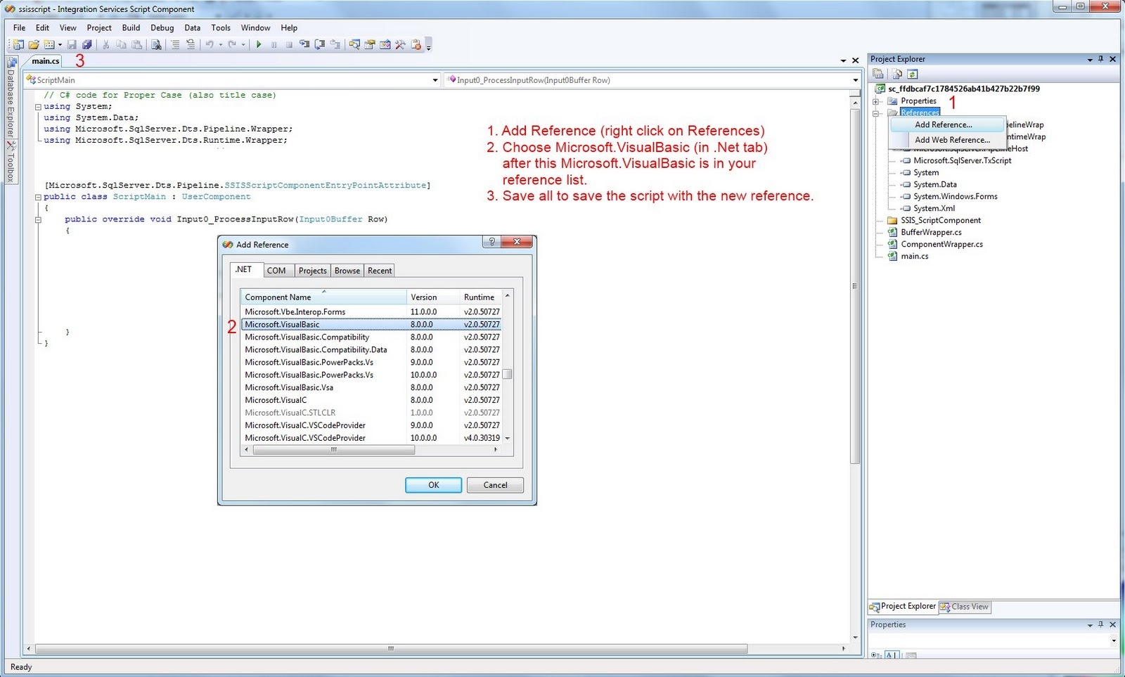 Microsoft SQL Server Integration Services: ProperCase in SSIS