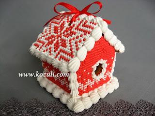 """Пряничный домик своими руками. Пряничный домик Красный """"вязаный"""", фото"""