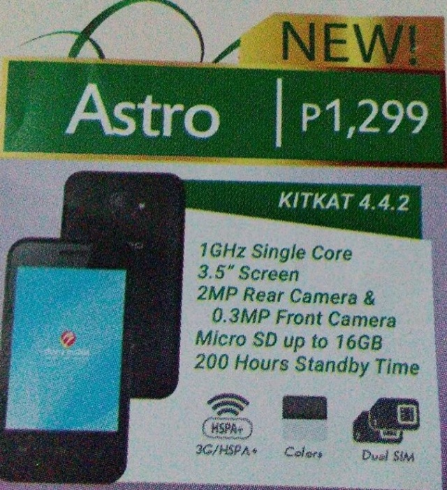 Cherry Mobile Astro, C100, C200 and Spin Mini Android phones