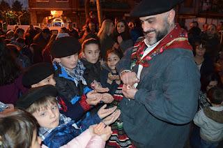 Celebración de Olentzero en los barrios de Barakaldo