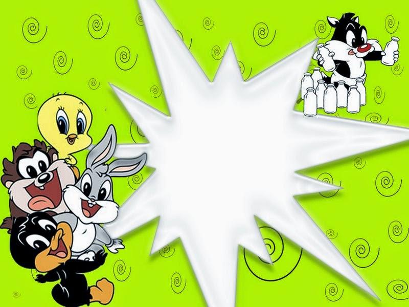 Para hacer invitaciones, tarjetas, marcos de fotos o etiquetas, para imprimir gratis de los Bebés Looney Tunes.
