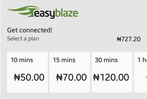 ETISALAT BlazeOn Time based data plan