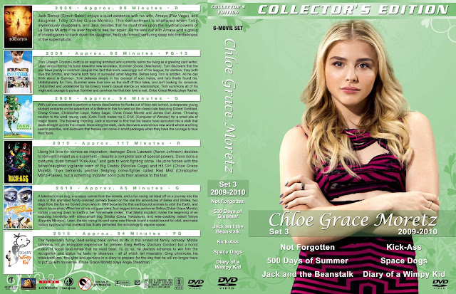Chloe Grace Moretz Collection Set 3 Large Spine DVD Cover