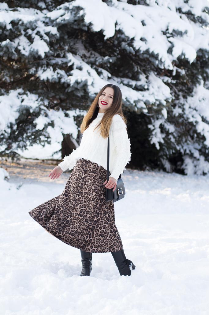 adina nanes leopard print midi skirt
