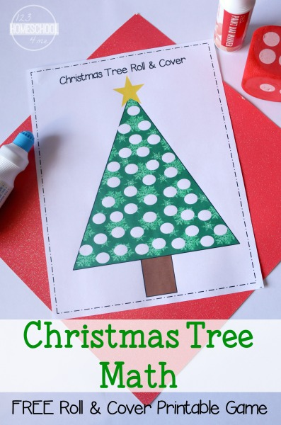 FREE Christmas Tree Math - This counting activities is such a FUN Christmas  printables for toddlers, preschool, kindergarten, and first grade kids to  practice math in December