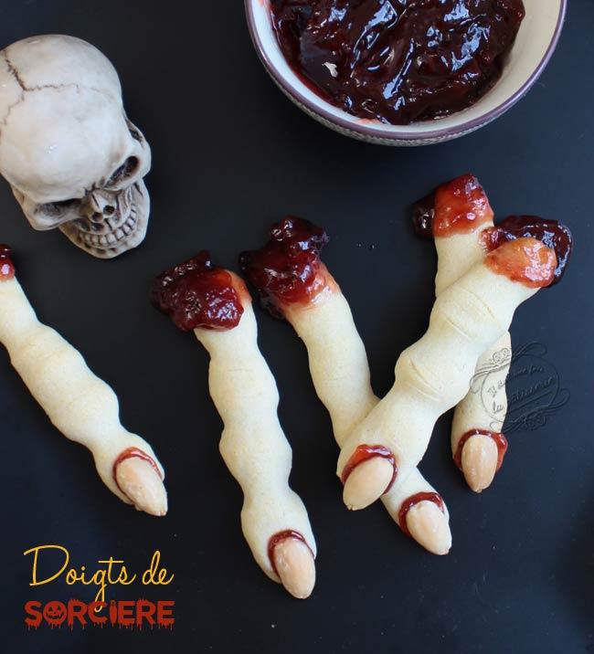recetet doigts sang halloween