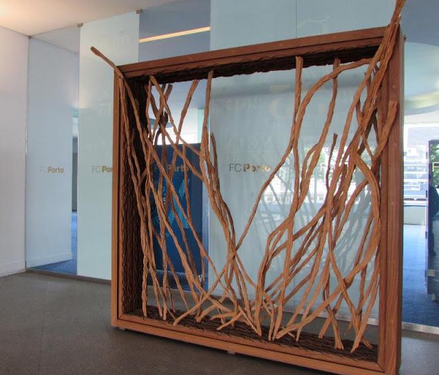 Instalação artistica no Museu do FC Porto