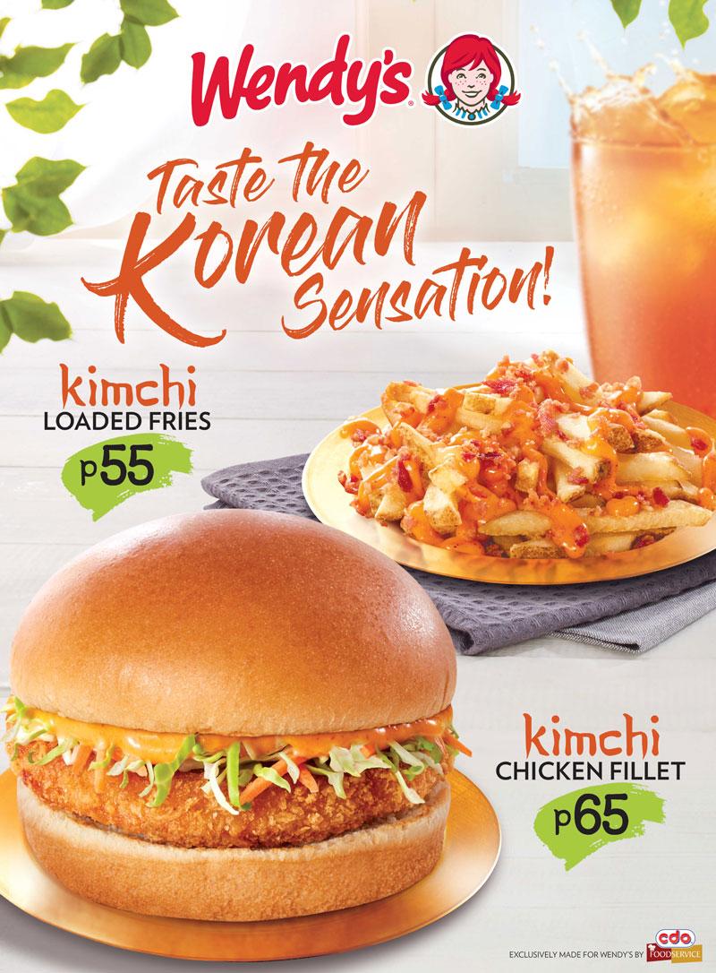 Wendys Kimchi Chicken Fillet & Kimchi Loaded Fries