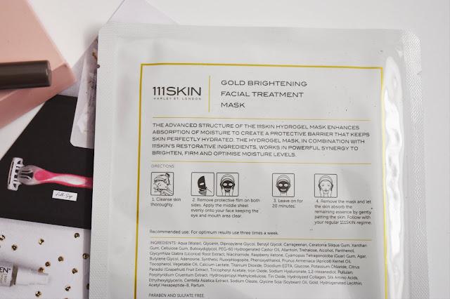 111Skin Bio Cellulose Gold Brightening Facial Treatment Mask
