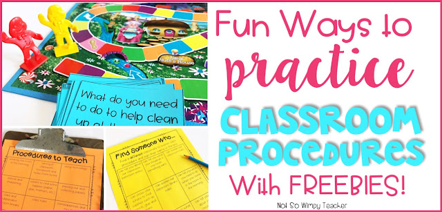 Check out these free activities to make teaching those back to school procedures more fun!