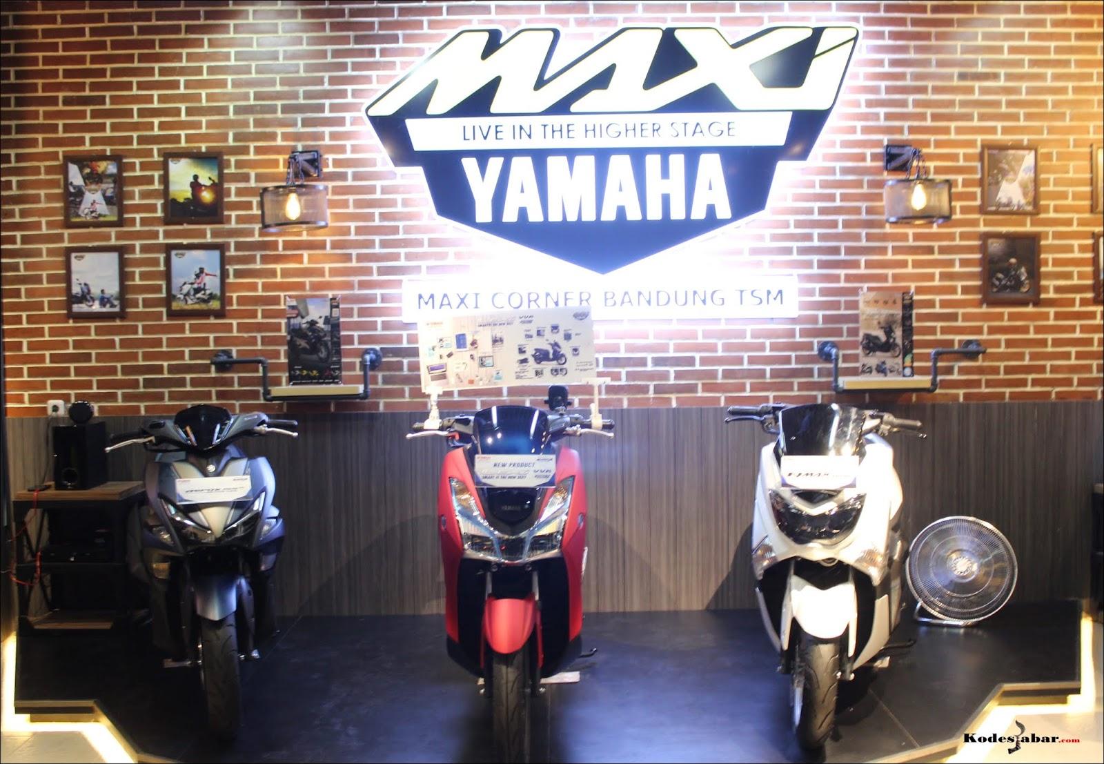 MAXI Corner Yamaha, Showroom Motor Kekinian di Trans Studio Mall Bandung