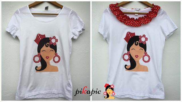 Camiseta serigrafiada económica flamenca Pikapic