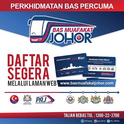 Permohonan Kad Bas Muafakat Johor 2018 Online