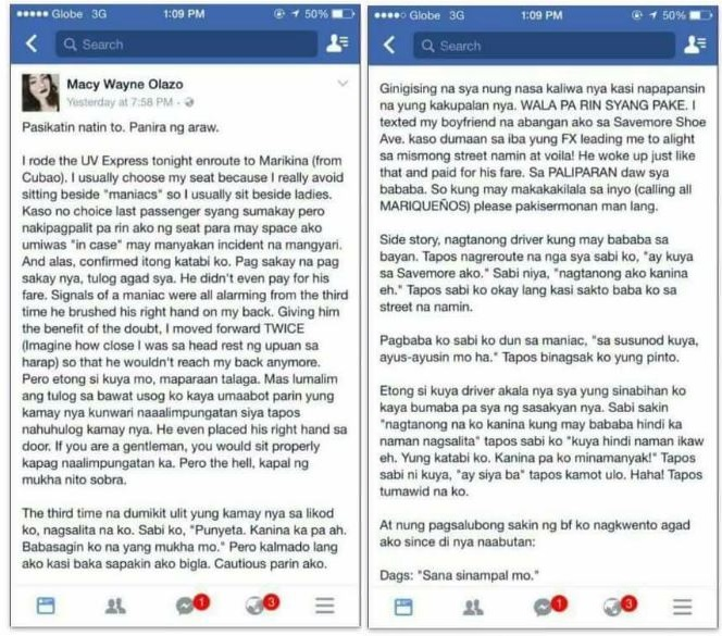 Macy Wayne Olazo viral Facebook post