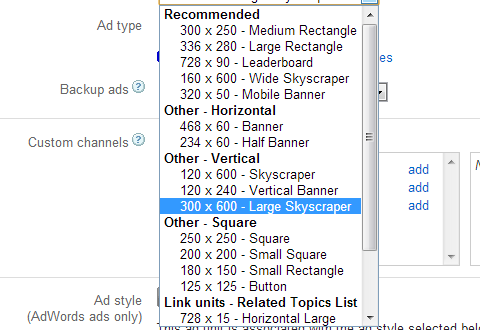 Ad Sizes In AdSense: 300x600