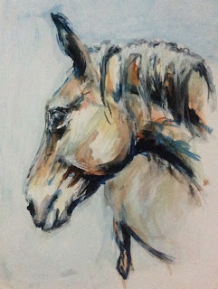 Summertime Blues, Contemporary equestrian art, horse painting