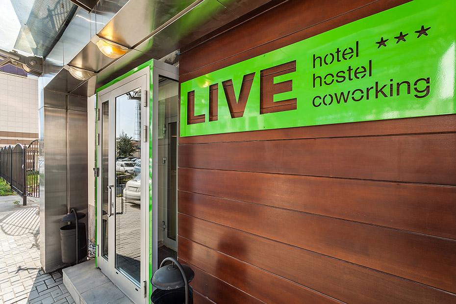 логотип и дизайн интерьера, отель Live
