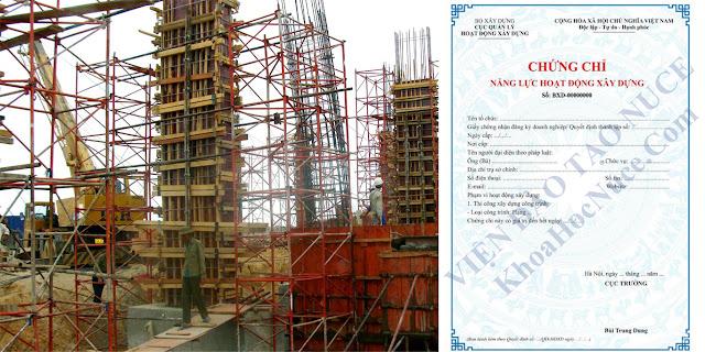 Bắt buộc phải có chứng chỉ năng lực khi tham gia hoạt động xây dựng