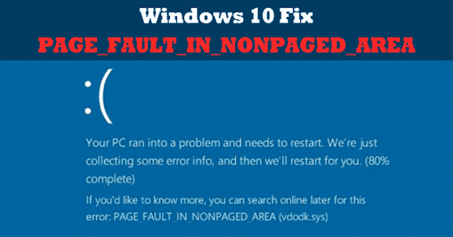 PAGE_FAULT_IN_NONPAGED_AREA Blue Screen Error BSOD