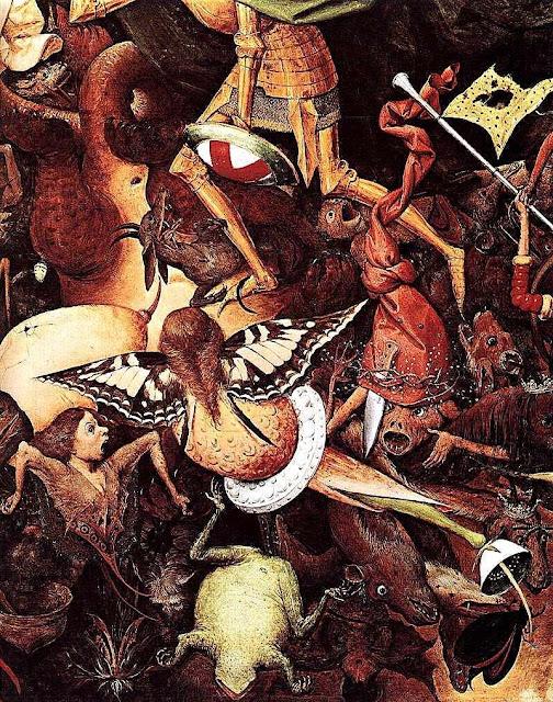 """Queda dos anjos rebeldes, detalhe. Pieter Bruegel """"O Velho"""" (1525/1530 — 1569), Museus Reais de Belas-Artes da Bélgica, Bruxelas."""