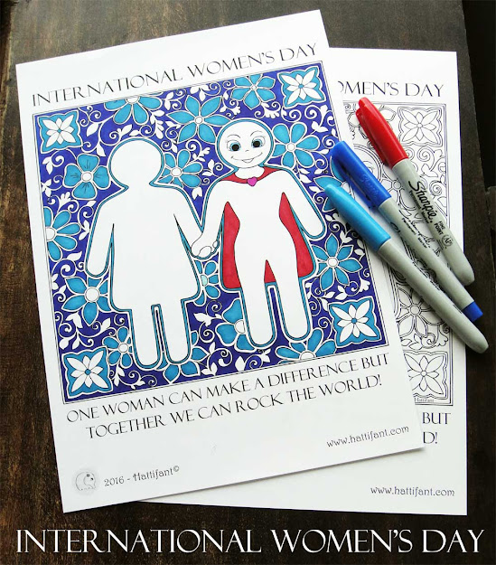 Hattifant International Womens Day It Was Never Dress Coloring Page