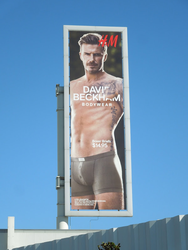 David Beckham HM Bodywear billboard