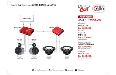 Paket Audio Jazz by Audio Tones Jakarta