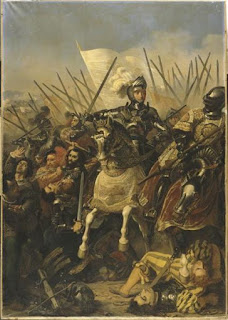 The French painter Pierre-Jules Jollivet's depiction of the Battle of Agnadello