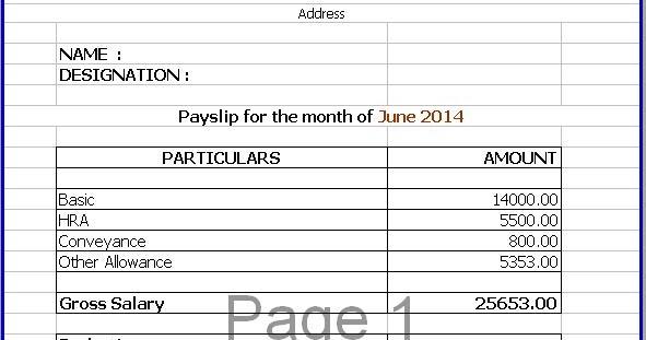 payslip sample template | resume-template.paasprovider.com