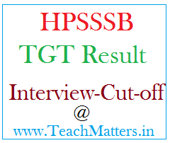 image : HPSSSB TGT Result, Cut-off Marks & Interview Schedule 2019 @ TeachMatters
