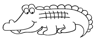 Cute Smile Baby Aligator Coloring Pages