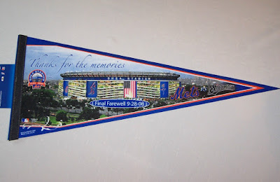 Souvenir Pennant from the final game at Shea