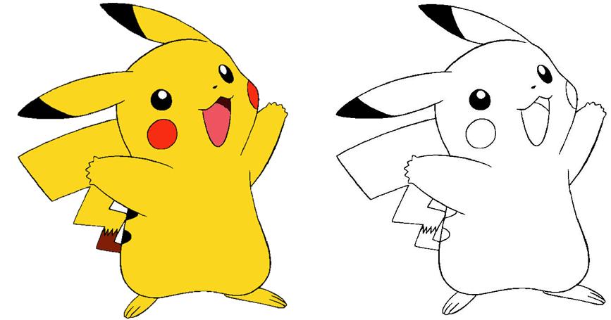Baú Da Web: Desenhos De Pokemon Para Imprimir E Colorir