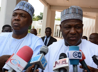 SARAKI, OTHER PRINCIPAL OFFICERS IN CONFERENCE WITH INEC