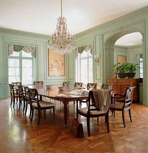 The Wiseman Group Painted This Beautiful Dining Room A Pale Milky Pistachio Green