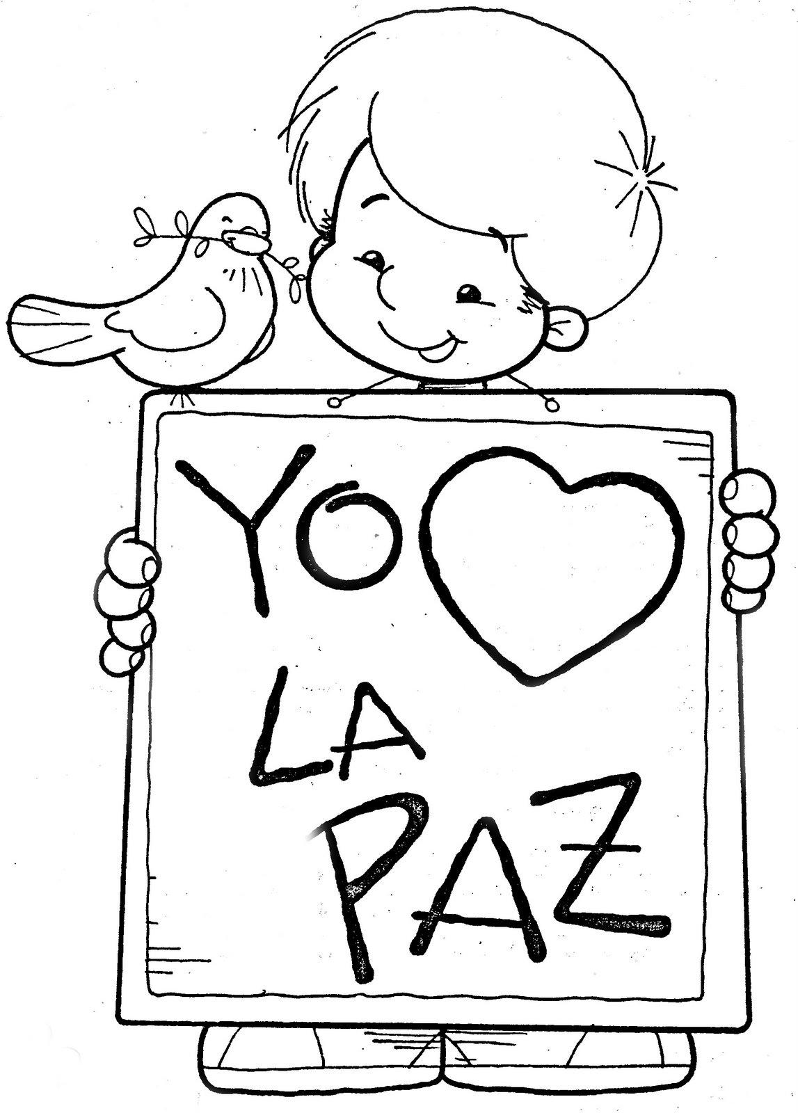 bibliotecadonalvaro Mensajes de La Paz para colorear