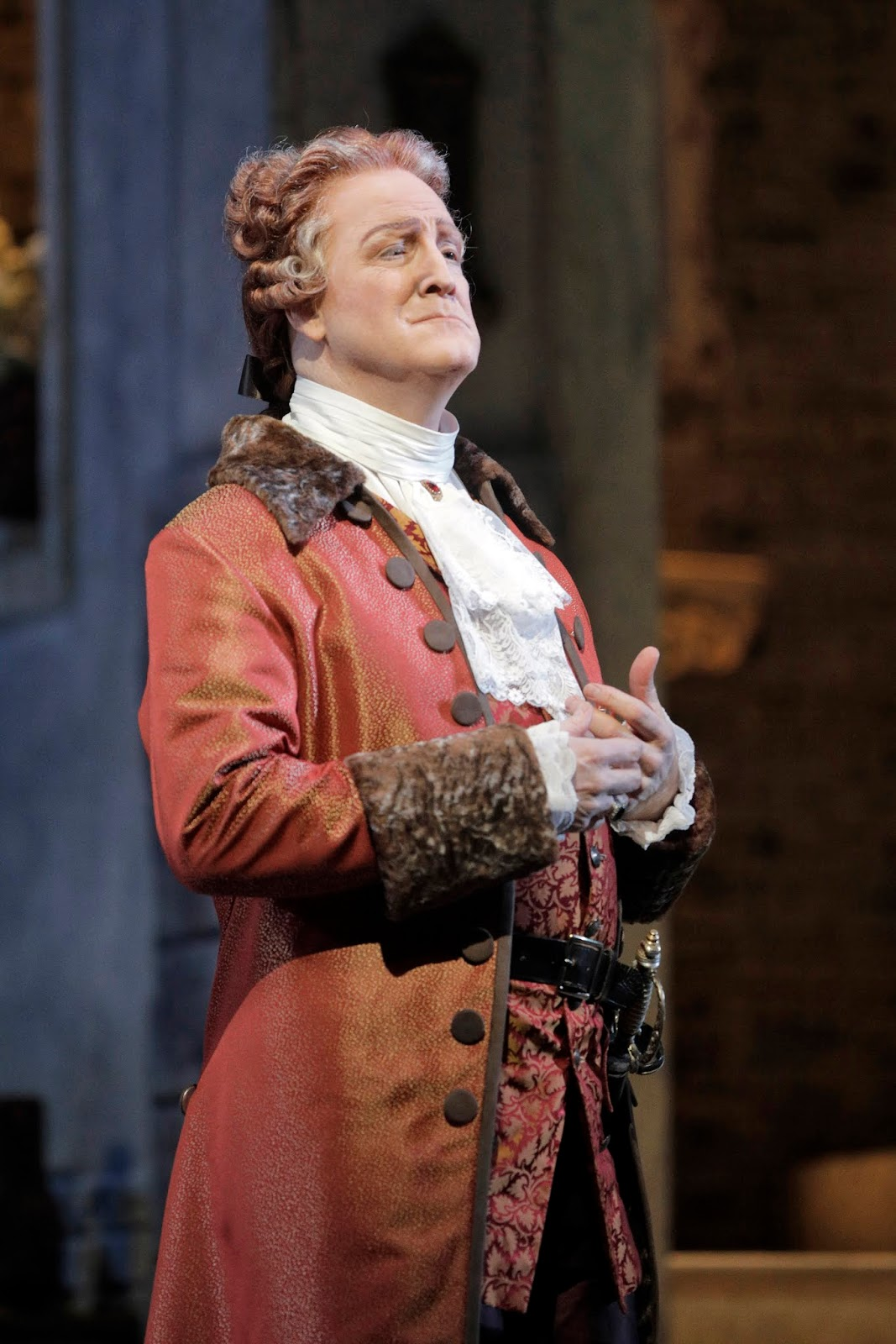 IN REVIEW: bass-baritone PHILIP SKINNER as Geronte in San Francisco Opera's November 2019 production of Giacomo Puccini's MANON LESCAUT [Photograph by Cory Weaver, © by San Francisco Opera]