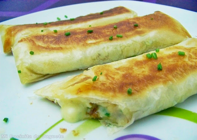 Flautas de Camembert con Masa Filo