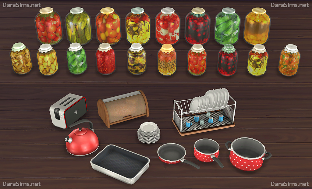 My sims 4 blog kitchen clutter and food decor by dara for Decoration stuff