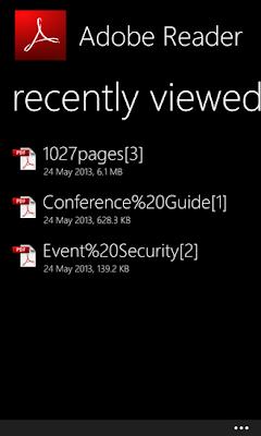 تحميل برنامج ادوب ريدر Adobe Reader لهواتف ويندوز فون 8