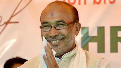 मणिपुर में पहली बार बनी भाजपा सरकार, बीरेन सिंह ने ली मुख्यमंत्री पद की शपथ