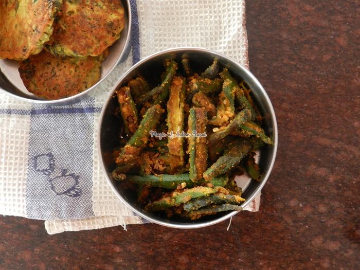 Besanwali Bhindi - Rajasthani Besan Bhindi Sabji Recipe - राजस्थानी बेसनवाली भिंडी की सब्जी  रेसिपी -  Priya R - Magic of Indian Rasoi
